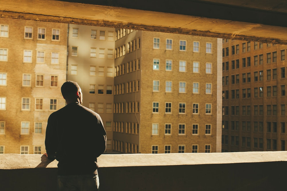 Men See building